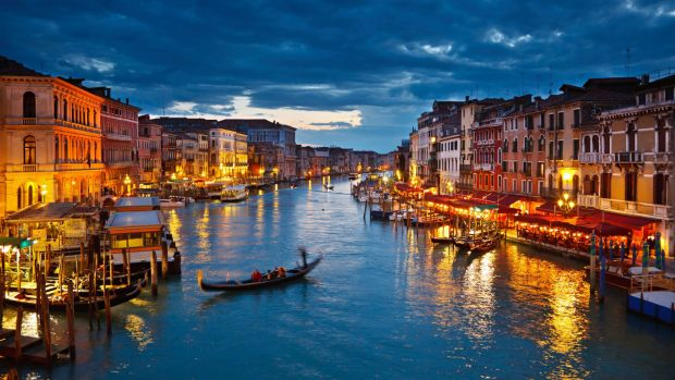 A section of Venice's famous waterways.