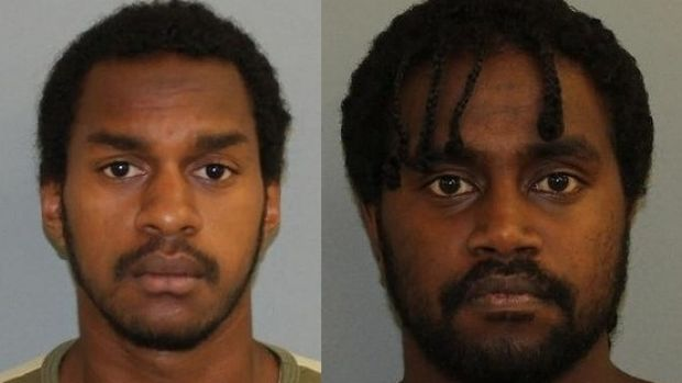 Prison escapees Nawie Asera, 19 and Elijah Tapim, 20.