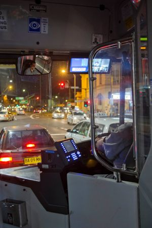 Lonely shift: Extra buses are travelling almost empty.