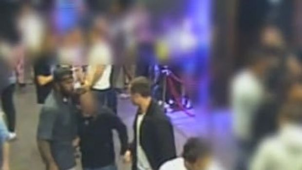 Security vision captured a one-punch assault outside Academy nightclub in Civic on August 17.