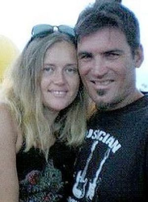 Cindy Masonwells, 33, with her partner Scott Maitland, 35.