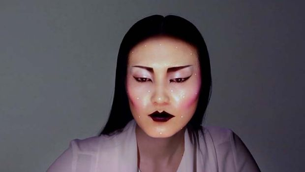 Virtual makeup - and no, those aren't the model's eyes.