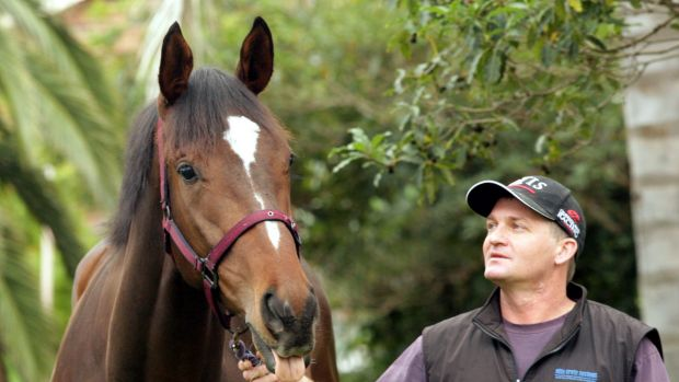 Political connections: Nextanix with trainer Kerry Parker.