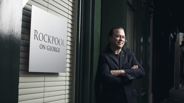 Neil Perry at his restaurant Rockpool on George in Sydney.