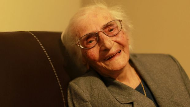 Yasmi Houmi, 102, arrived in Sydney in January as a humanitarian refugee.
