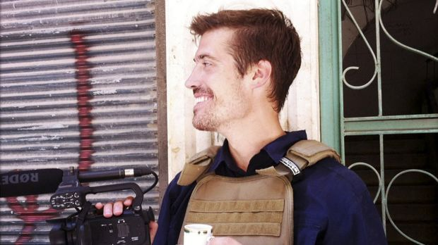 American journalist James Foley in Syria in July, 2012. Foley was beheaded by 'Jihadi John' during an Islamic State video.