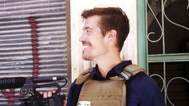 American journalist James Foley in Syria in July, 2012. Foley was the first Western victim to be beheaded on a ...