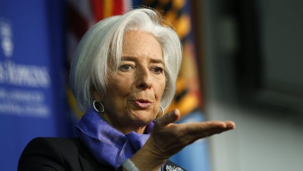 Christine Lagarde, the managing director of the IMF.