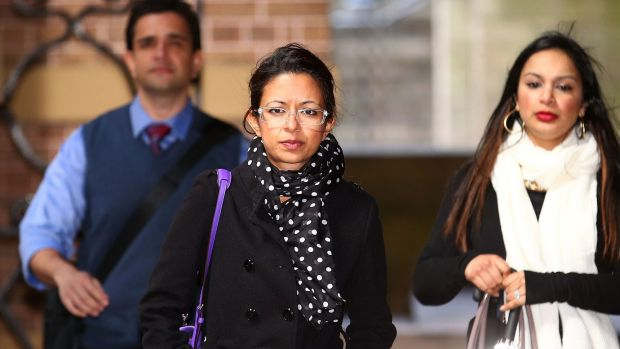 Dr Maha Qidwai enters the NSW Supreme Court for the murder trial of Tony Halloun, who is accused of killing Dr Qidwai's ...