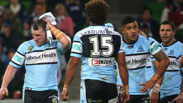 Frustrated: Paul Gallen may have worn a Kangaroos jersey for the last time.