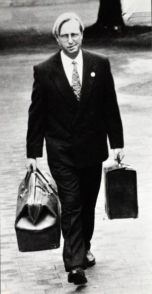 John Ibbotson enters the Coroners court in 1992.