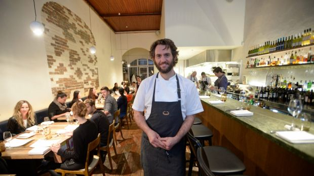 Chef Joe Grbac at Saint Crispin Resturant  introduced a minimum spend and two sittings.
