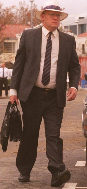 David Eastman on his way into court in 1995. His retrial won't begin until 2018.
