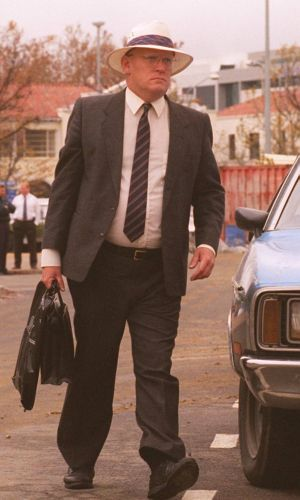 David Eastman on his way to the ACT Supreme Court to face murder charges 20 years ago.