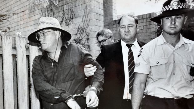 Re-trial: The 1992 arrest of David Eastman for the murder of Colin Winchester.