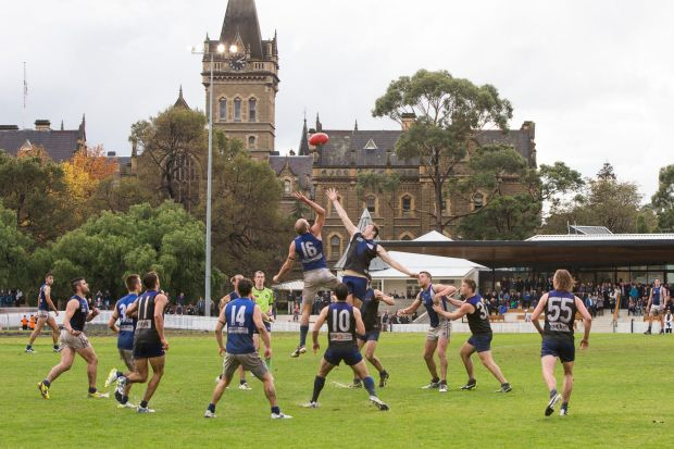 Uni Blues play at the scenic University Oval.