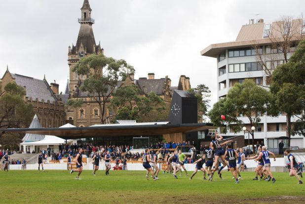 VAFA action at the University Oval in 2014.