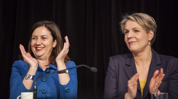 Opposition leader Annastacia Palaszczuk, pictured with federal deputy opposition leader Tanya Plibersek, has vowed to ...
