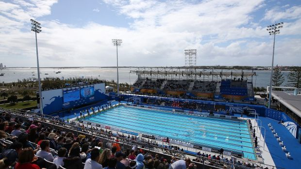The Gold Coast aquatic centre, where swim events will be hosted at the 2018 Commonwealth Games.