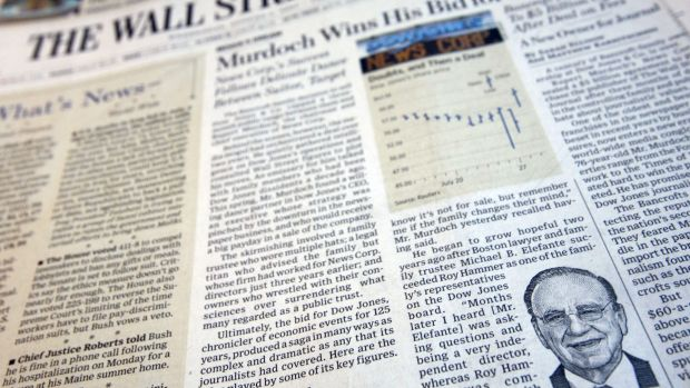 More than half of The Wall Street Journal's subscribers don't get the print editions, accessing its stories online.