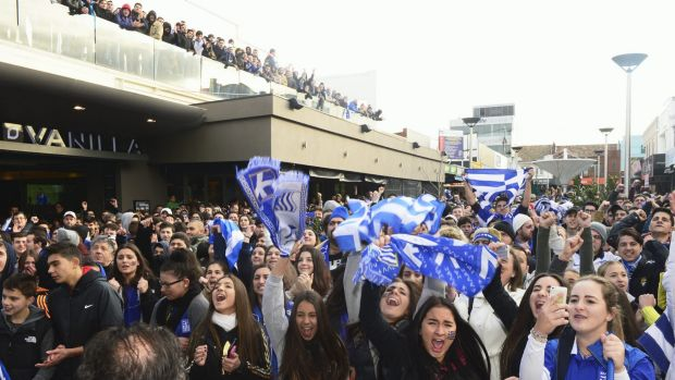 Soccer excitement: Thousands crowned the Eaton Mall in Oakleigh for Greece's game against Costa Rica in this year's ...
