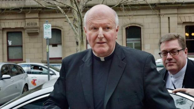 Archbishop of Melbourne Denis Hart arrives at the County court for the Royal commission into institutional responses to ...