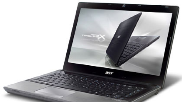 Upwards of eight hours battery life ... Acer TimelineX