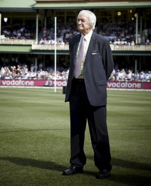 Icon: Richie Benaud is on his way back to the commentary box.