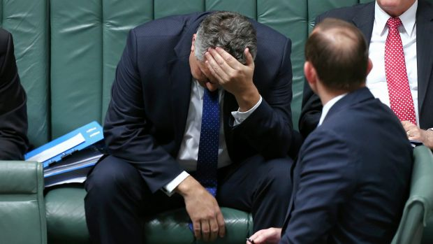 Joe Hockey, not looking like the heir apparent he once was.