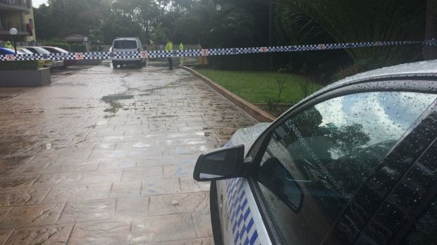Police set up a crime scene at the Monarco Estate complex in Westmead after a woman'€™s body was found nearby.