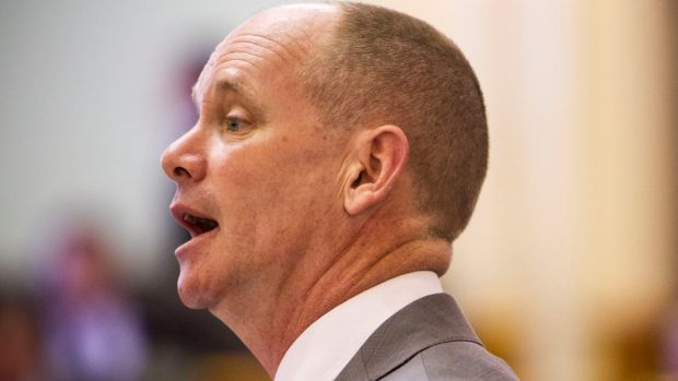 Premier Campbell Newman speaking in parliament this week.