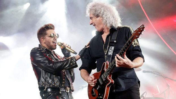 Adam Lambert and Brian May.