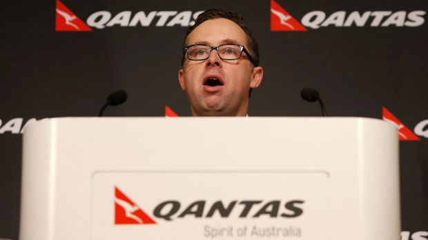 Head on the block: Qantas chief executive Alan Joyce.