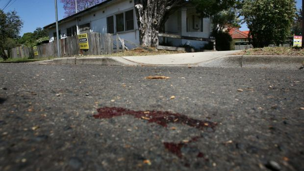 Blood marks the spot where Kok On Chin was run over.