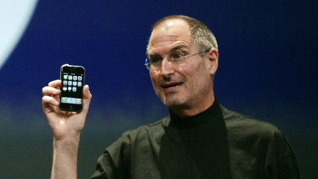 Golden path: Steve Jobs launches the iPhone in 2007.
