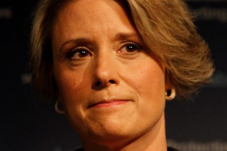 "Kristina Keneally in 2011, conceding defeat in the NSW election. ""I view the Christian gospel from a social-justice ..."
