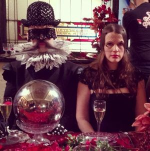 The pair met at Burkin's 22nd birthday and share a love of dressing up.