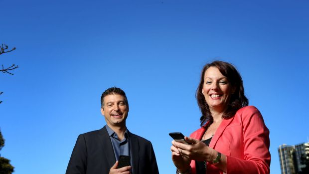 Twitter executives Adam Bain and Karen Stocks.