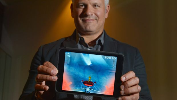 Neuroscientist Adam Gazzaley in Melbourne with a game to clinically improve cognitive function.