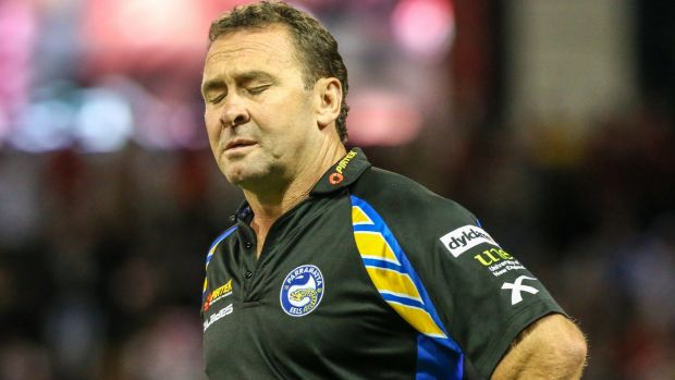 Ricky Stuart during his stint as Parramatta coach in 2013.