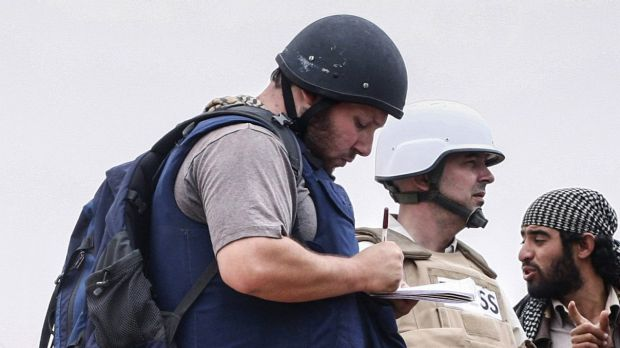 US reporter Steven Sotloff at work in Libya in 2011. Sotloff was beheaded during an Islamic State video featuring ...