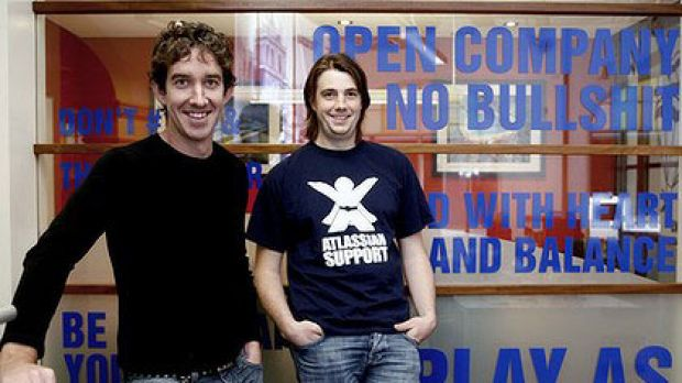 """""""We want to grow to a billion dollars"""" ... Atlassian co-founders Scott Farquhar and Mike Cannon-Brookes."""