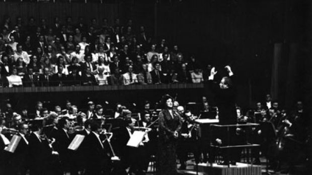 Lightning rod ... Mackerras leads the gala opening concert at the Sydney Opera House, featuring the Swedish soprano ...