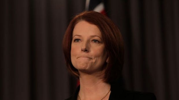 Julia Gillard addressing the National Press Club yesterday. One Labor source says she had the numbers before the meeting.