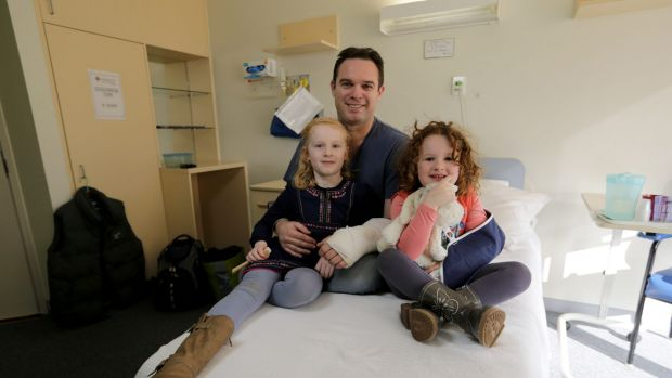 Adam Clarke will be back home for Father's Day with  daughters Morgen and Ava.