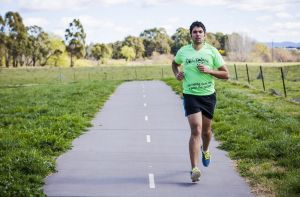 Gian Balmer, pictured, and his friend Freya Caws are on track to be the highest individual fundraisers for the Canberra ...