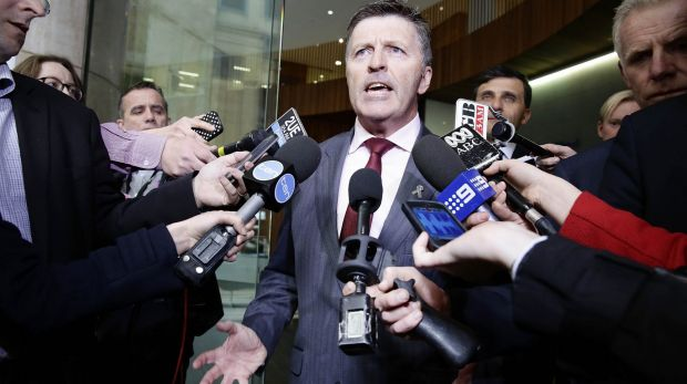 Mike Gallacher outside ICAC in 2014.