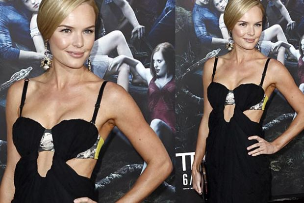 Alexander Skargard's partner Kate Bosworth arrives at the premiere.