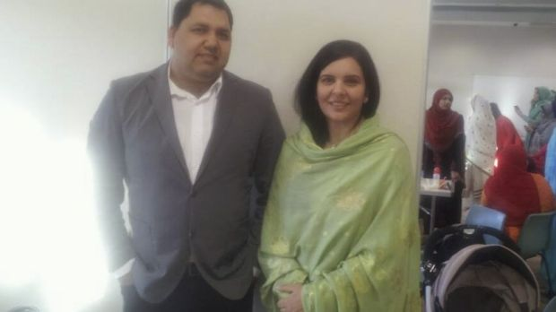 Shop owner Adeel Khan and his wife Naima.