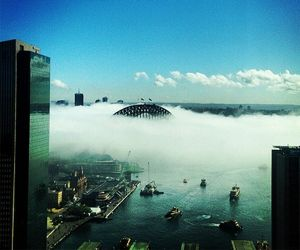 Thick fog blankets the CBD.